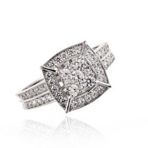 Zaročni prstan 49 komplet - briljant