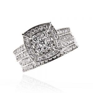 Zaročni prstan 49 komplet - briljant-2