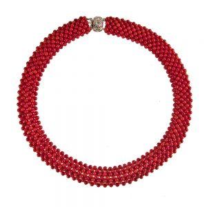 Ogrlica Rdeča korala