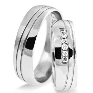 Srebrni poročni prstani S129-2