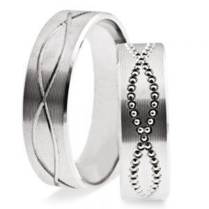 Srebrni poročni prstani S131