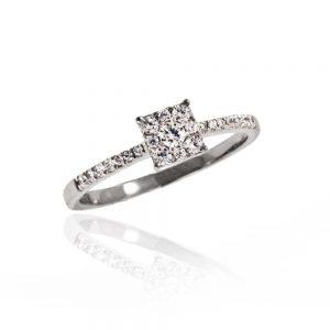 Zaročni prstan 78 - briljant
