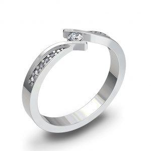 Zaročni prstan 63 - briljant
