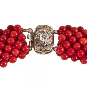 Ogrlica Rdeča korala-2