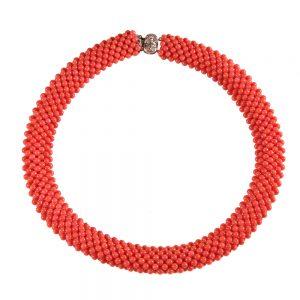 Ogrlica Roza korala