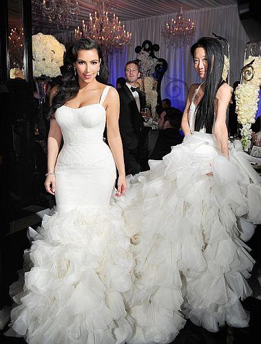 Poročna obleka Kim Kardashian