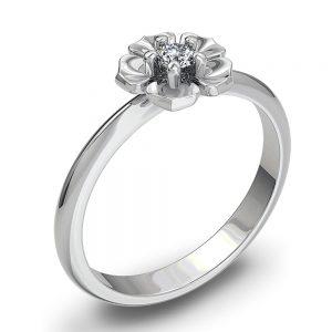 Zaročni prstan 35 - briljant