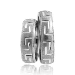 Srebrni poročni prstani S 003