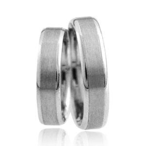 Srebrni poročni prstani S 004